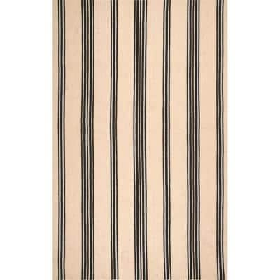 Brenna Striped Natural 4 ft. x 6 ft. Area Rug