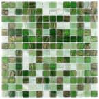 Coppa Forest 12 in. x 12 in. Glass Mosaic Tile (13.27 sq. ft. / Case)