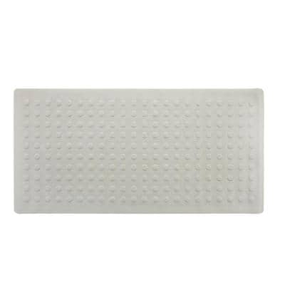18 in. x 36 in. Extra Long Rubber Bath Safety Mat in Tan