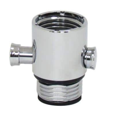 Pause/Trickle Adapter for Hand-Held Showers in Polished Chrome