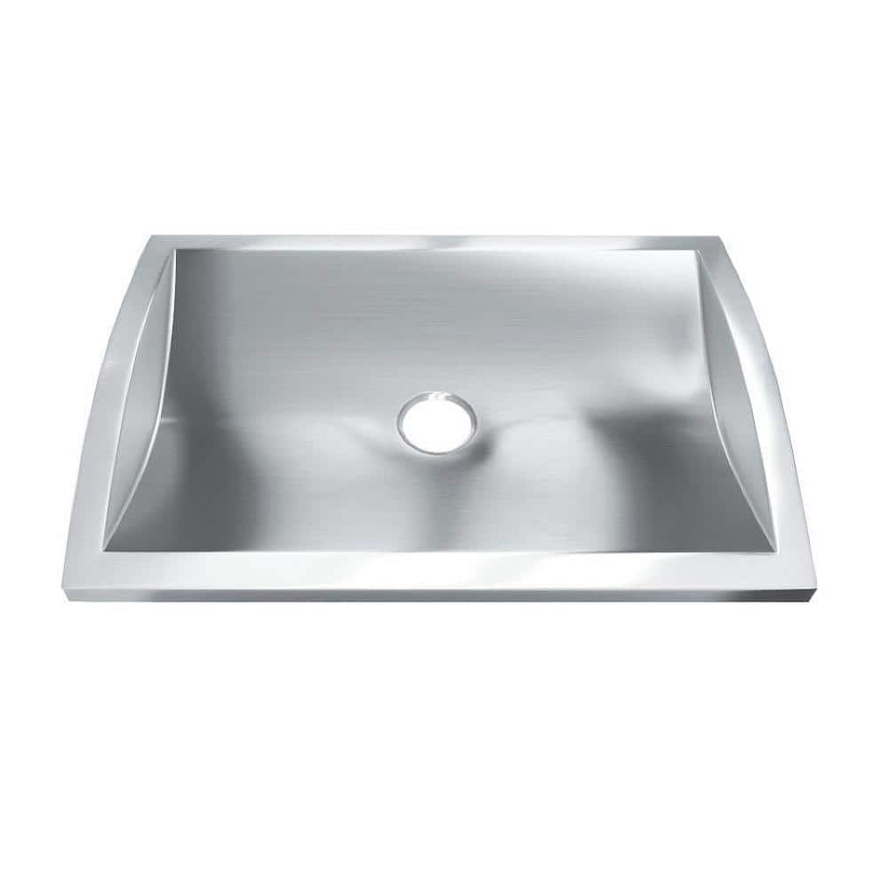 Hardy 3 In Drop In Bathroom Sink In Stainless Steel Hmbr2818 The Home Depot