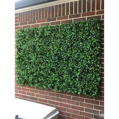 """20"""" x 20"""" Yellow Tip Gardenia Leaves-Artificial Boxwood Hedges, Living Wall Panels (12 pcs)"""