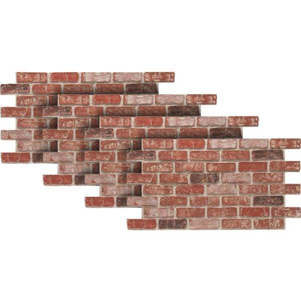 Urestone Old Town 24 In X 46 3 8 In Faux Used Brick Panel 4 Pack Ul2600pk 70 The Home Depot