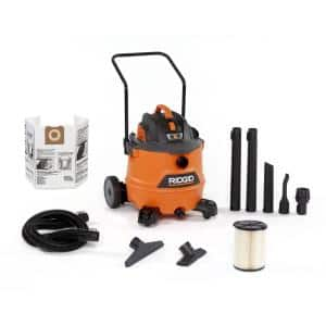 16 Gal. 6.5-Peak HP NXT Wet/Dry Shop Vacuum with Cart, Filter, Hose and Accessories