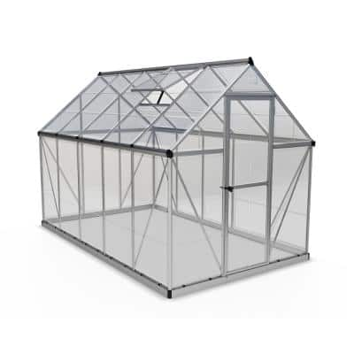 Harmony 6 ft. x 10 ft. Polycarbonate Greenhouse in Silver