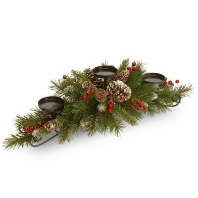 30 in. Frosted Berry Centerpiece and Candle Holder