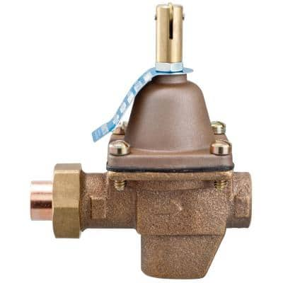 1/2 in. Bronze High Capacity Feed Water Pressure Regulator, NPT Threaded Inlet