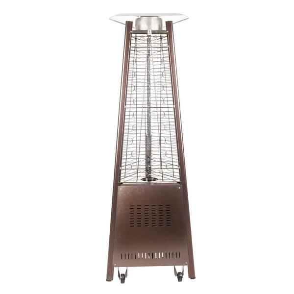 Hausen Black Pyramid Real Flame Garden//Outdoor Patio Gas Heater PE Cover NEW