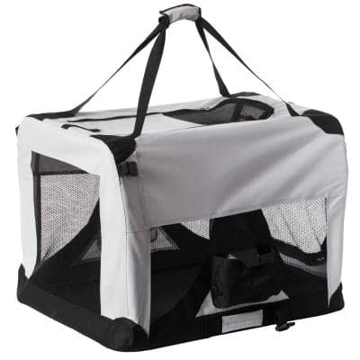 Soft-Sided Mesh Foldable Pet Travel Carrier, Airline Approved Pet Bag for Dogs and Cats-Large