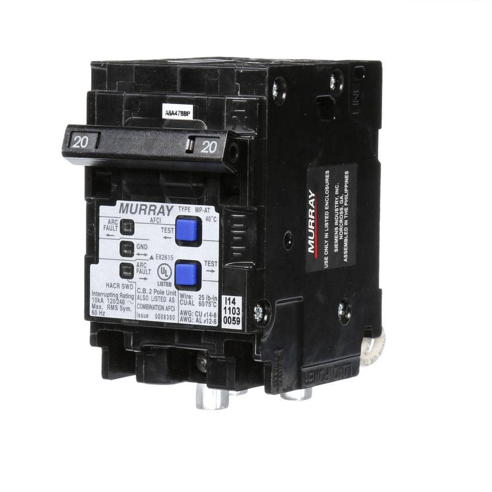 Murray 20 Amp Double-Pole Type MP-AT Combination AFCI Circuit Breaker-MP220AFCP  - The Home DepotThe Home Depot