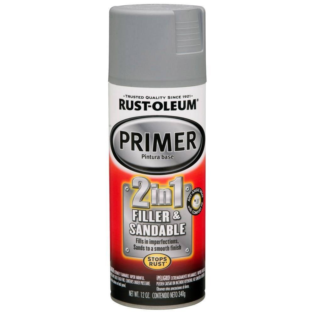 Rust-Oleum Automotive 12 oz. Gray 2 in 1 Filler & Sandable Primer Spray (6-Pack)