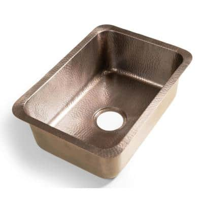 Monarch Dual Mount Pure Copper Hand Hammered Milan 21 in. Single Bowl Kitchen Sink