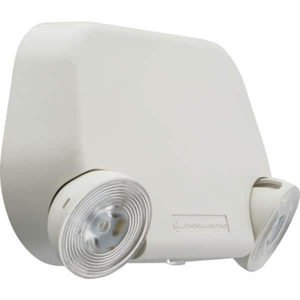 Lithonia Lighting 2-Light White Integrated LED Thermoplastic Emergency Light