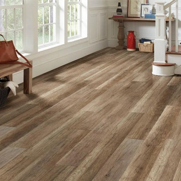 Lifeproof Greystone Oak Water Resistant 12 mm Laminate Flooring (16.80 sq.  ft. / case)-HL1314 - The Home Depot