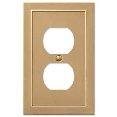 Bethany 1 Gang Duplex Metal Wall Plate - Brushed Bronze