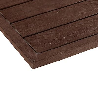 1/6 ft. x 1 ft. Quick Deck Composite Deck Tile Outside Corner Trim in California Redwood (2-Pieces/Box)