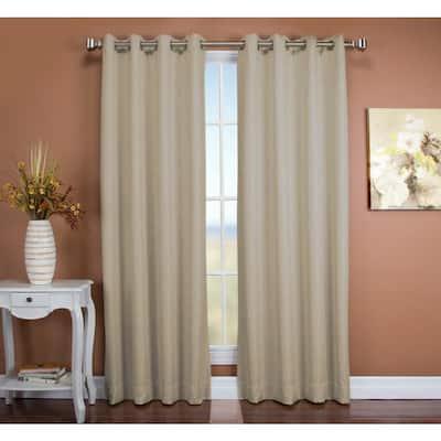 Parchment Grommet Blackout Curtain - 50 in. W x 84 in. L