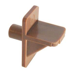 Shelf Support Pegs 1/2 in. Width x 1 in. Length x 1/4 in. Diameter Plastic Light Brown