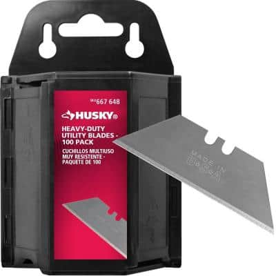 Heavy-Duty Utility Blades Dispenser (100-Pack)