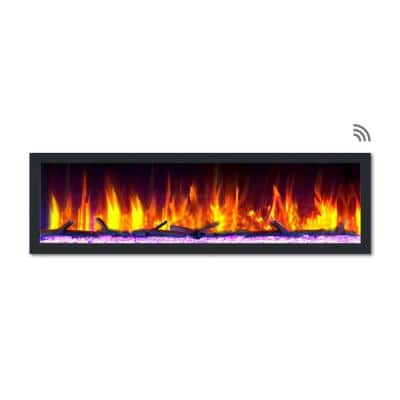 Recessed Electric Fireplaces Fireplaces The Home Depot