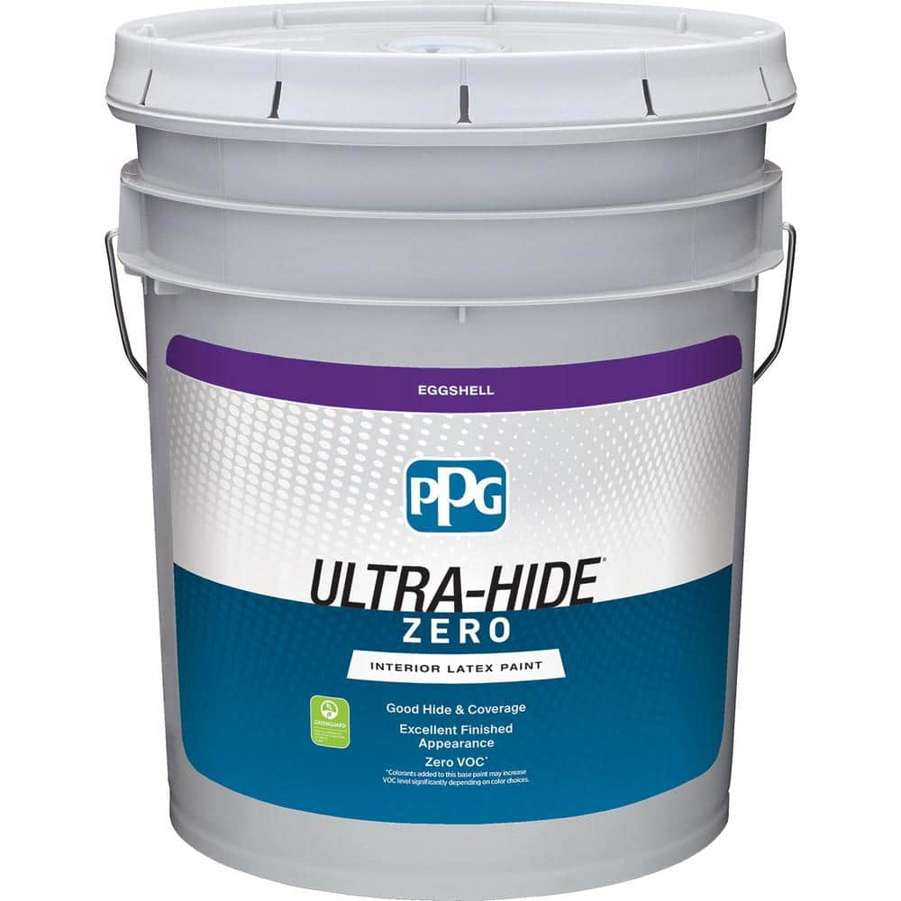 Ppg 5 Gal Hdpv28u Ultra Hide Zero Roslyns Periwinkle Blue Eggshell Interior Paint Hdpv28uz 05e The Home Depot