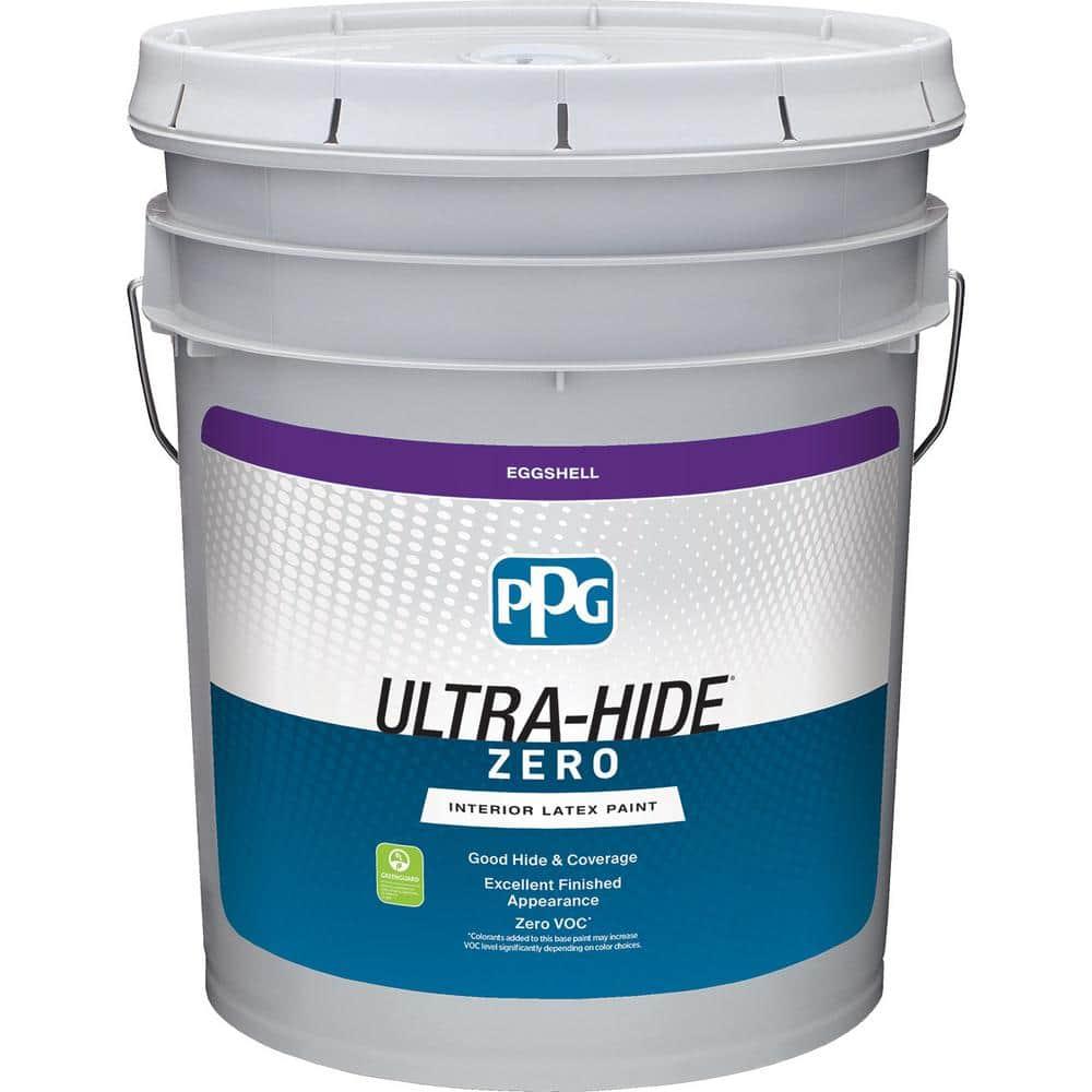 Ppg 5 Gal Hdpg56 Ultra Hide Zero Tranquil Light Green Eggshell Interior Paint Hdpg56z 05e The Home Depot