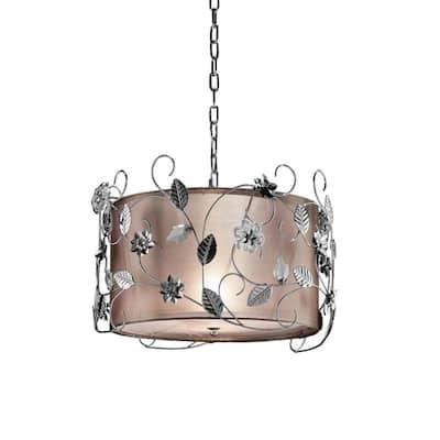 12 in. Silver Crystal Ceiling Chandelier
