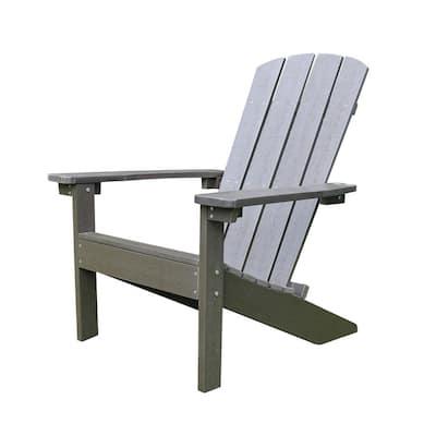 Lakeside Espresso Plastic Adirondack Chair (1-Pack)