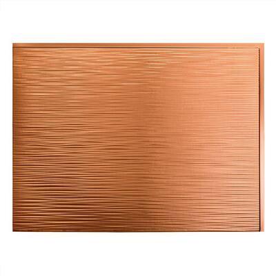 18.25 in. x 24.25 in. Ripple Vinyl Backsplash Panel in Polished Copper (5-Pack)