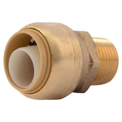 3/4 in. Push-to-Connect x 1/2 in. MIP Brass Reducing Adapter Fitting