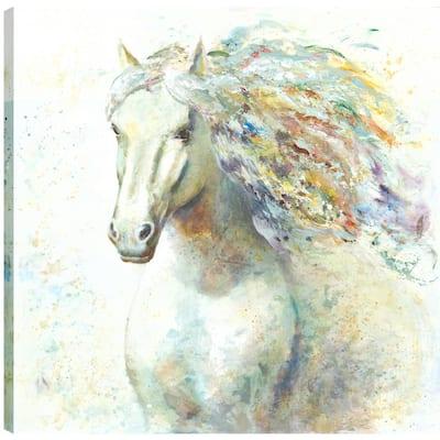 Horse Love III, Animal Art, Fresh Printed Canvas Wall Art Decor Gallery Wrapped Wall Art