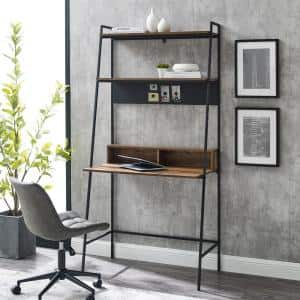 36 in. Rectangular Reclaimed Barnwood Ladder Desks with Cable Management