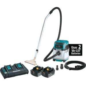 18-Volt X2 LXT Lithium-Ion (36V) Cordless/ Corded 4 Gallon HEPA Filter Dry Dust Extractor/Vacuum Kit (5.0Ah)