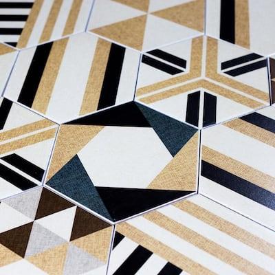 Fabrica Beige Delight Hexagon 8 in. x 8 in. Matte Ceramic Decorative Wall and Floor Tile (7.7 Sq. ft./ Case)