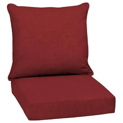 24 x 24 Ruby Leala Texture 2-Piece Deep Seating Outdoor Lounge Chair Cushion