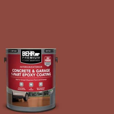 1 Gal. #PFC-10 Deep Terra Cotta Self-Priming 1-Part Epoxy Satin Interior/Exterior Concrete and Garage Floor Paint