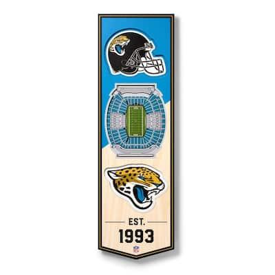 NFL Jacksonville Jaguars 6 in. x 19 in. 3D Stadium Banner-TIAA Bank Field