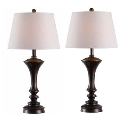 Isabella 29 in. Copper Table Lamps (2-Pack)