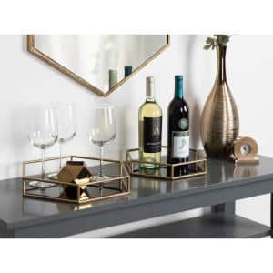 Felicia Gold/Black Decorative Tray(Set of 2)
