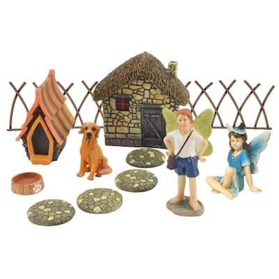 Friendly Companion Polyresin Fairy Garden Kit (14-Piece)