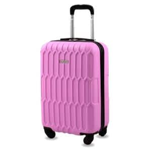 Honeycomb 20 in. Pink Carry-On Expandable Spinner Suitcase