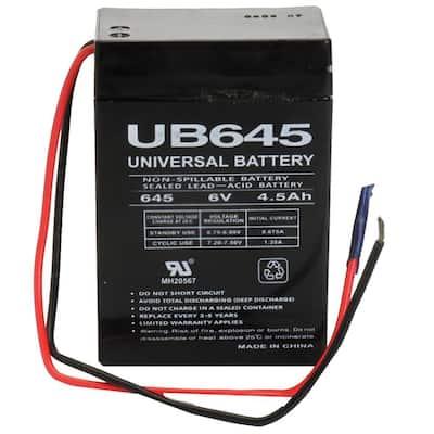 6-Volt 4.5 Ah WL Terminal Sealed Lead Acid (SLA) AGM Rechargeable Battery
