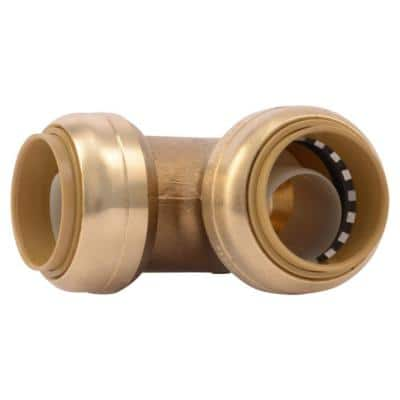 1 in. Push-to-Connect Brass 90-Degree Elbow Fitting