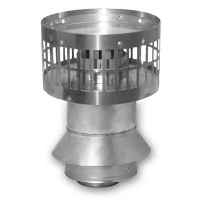 3 in. x 5 in. Stainless Steel Concentric Vertical Vent Termination For Indoor Tankless Gas Water Heaters