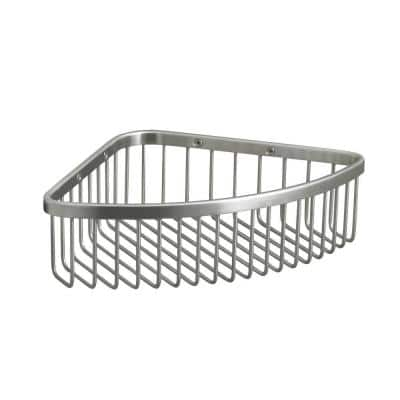 Large Shower Basket in Brushed Stainless