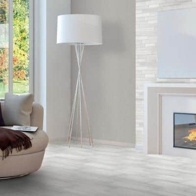 Milano Lasa White 3 in. x 24 in. Porcelain Floor and Wall Bullnose Tile (6 sq. ft. / case)