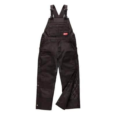 Men's Gridiron Medium Black Zip-to-Thigh Bib Overall