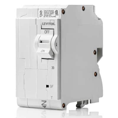 Branch Circuit Breaker, GFCI 2-Pole 30 Amp, 120-Volt/240-Volt, Thermal Magnetic