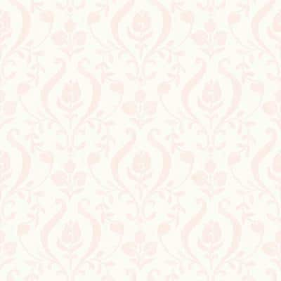 Eloise Light Pink Damask Light Pink Wallpaper Sample