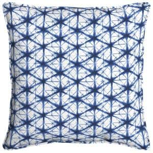 Midnight Shibori Square Outdoor Throw Pillow (2-Pack)